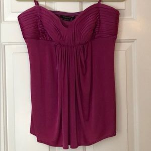 NWT BCBG Strapless Top with Ruched Detail